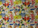 COLOURFUL SNOWMEN - Christmas material - Fabric - Price Per Metre
